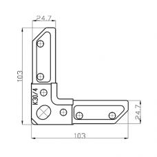 Уголок К30/4 для фланцевых рамок воздуховодов