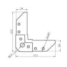 Уголок P40/4 для фланцевых рамок воздуховодов