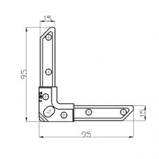 Уголок К20/3 L для фланцевых рамок воздуховодов