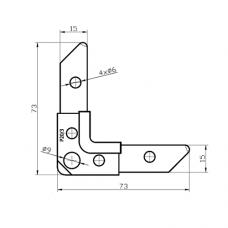 Уголок Р20/3 для фланцевых рамок воздуховодов