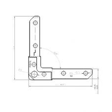 Уголок P20/3 L для фланцевых рамок воздуховодов