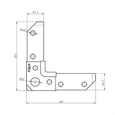 Уголок Р30/4 для фланцевых рамок воздуховодов