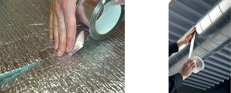 Клейкая алюминиевая лента
